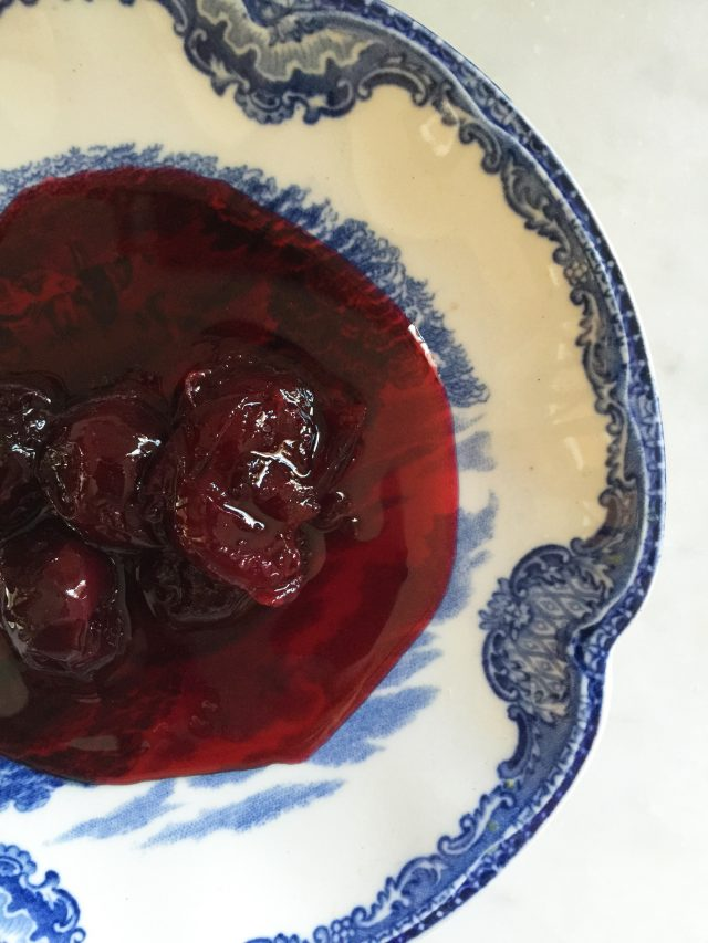 Sour Cherry Rosemary Conserves | In Jennie's Kitchen