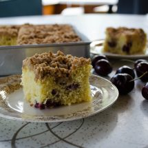 Sweet Cherry Coffee Cake