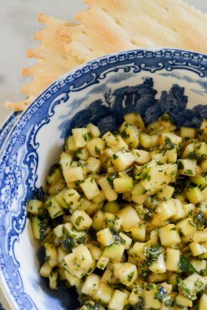Zucchini Tartare | In Jennie's Kitchen