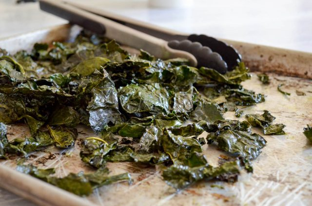 Crispy Baked Kale Chips | In Jennie's Kitchen
