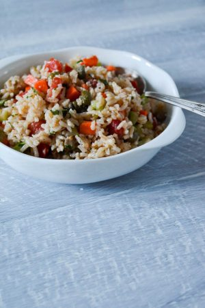 Italian Rice Salad | In Jennie's Kitchen