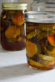 Maple Syrup Pickles | In Jennie's Kitchen