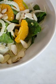 Arugula, Fennel & Mandarin Orange Salad | In Jennie's Kitchen
