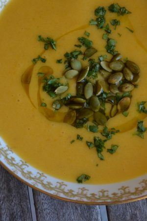 Roasted Butternut Squash Soup | Recipe at In Jennie's Kitchen