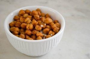 Crispy Roasted Rosemary Chickpeas | In Jennie's Kitchen