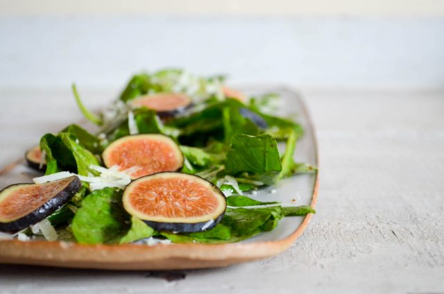 Fig, Arugula & Pecorino Salad | Recipe at In Jennie's Kitchen