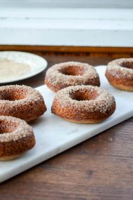 Baked Apple Cider Doughnuts | In Jennie's Kitchen