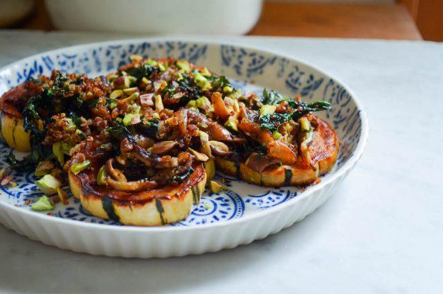 Delicata Squash, Shiitake, Kale  Quinoa SaladIn Jennies Kitchen