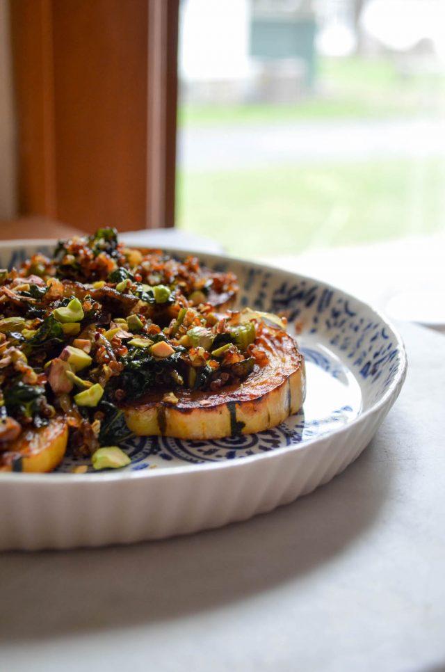 Delicata Squash, Shiitake, Kale & Quinoa Salad | In Jennie's Kitchen