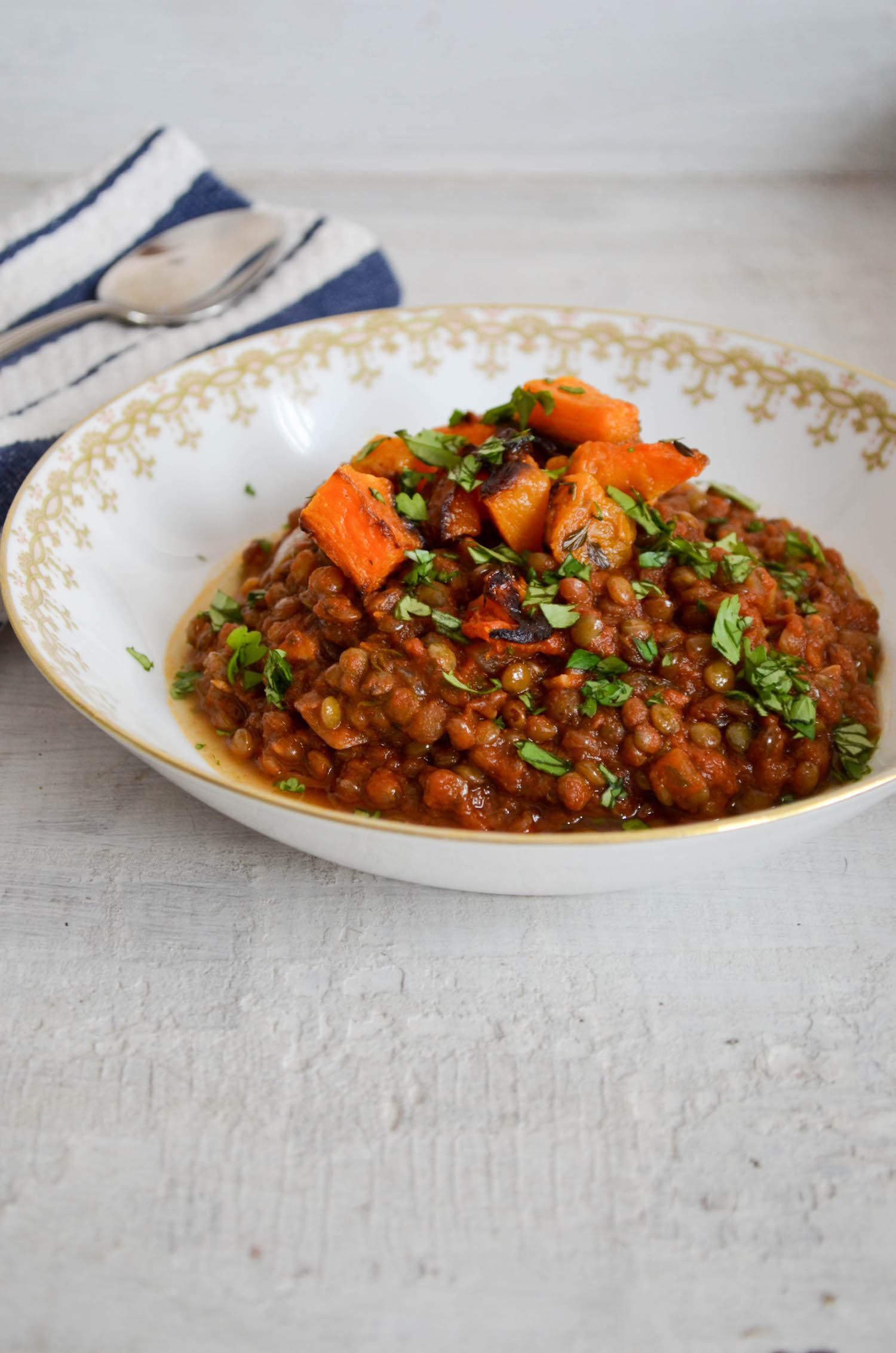 French Lentil Chili Get the Recipe at In Jennies Kitchen