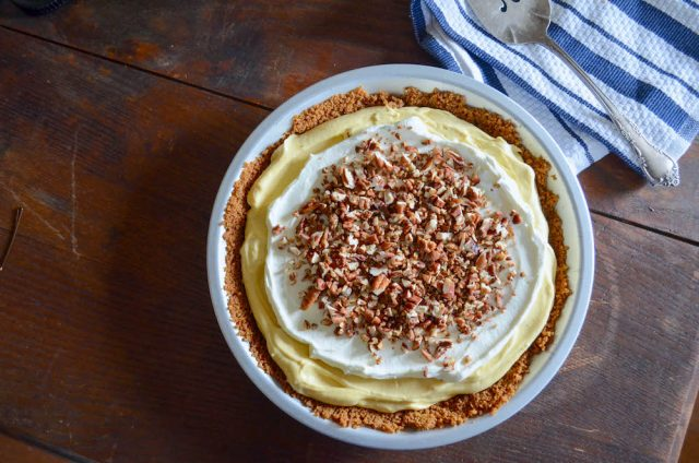 No Bake Pumpkin Cream Pie | In Jennie's Kitchen