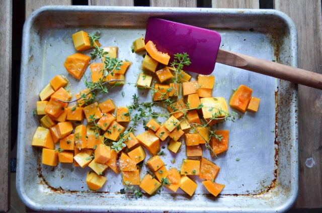 ... simple recipe for Lemon Thyme Roasted Butternut Squash, I know