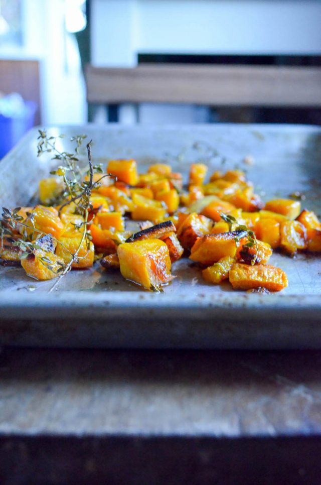 Lemon Thyme Roasted Butternut Squash - In Jennie's Kitchen