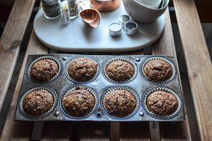 Chocolate Banana Muffins | In Jennie's Kitchen