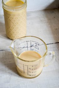 Homemade Sweetened Condensed Milk {Refined Sugar Free} | Recipe at In Jennie's Kitchen