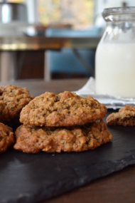 Chewy Oatmeal Walnut Allspice Cookies | In Jennie's Kitchen