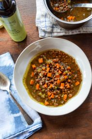 Slow Cooker Lentil Soup | In Jennie's Kitchen