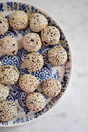 Tahini, Date & Chocolate Truffles