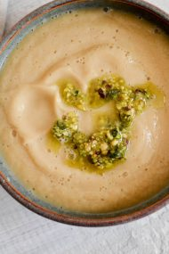 Roasted Cauliflower, Ginger & Pear Soup