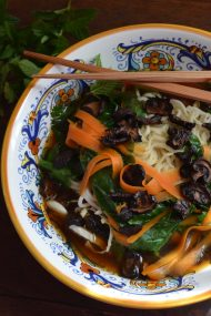 Homemade Mushroom Pho | In Jennie's Kitchen