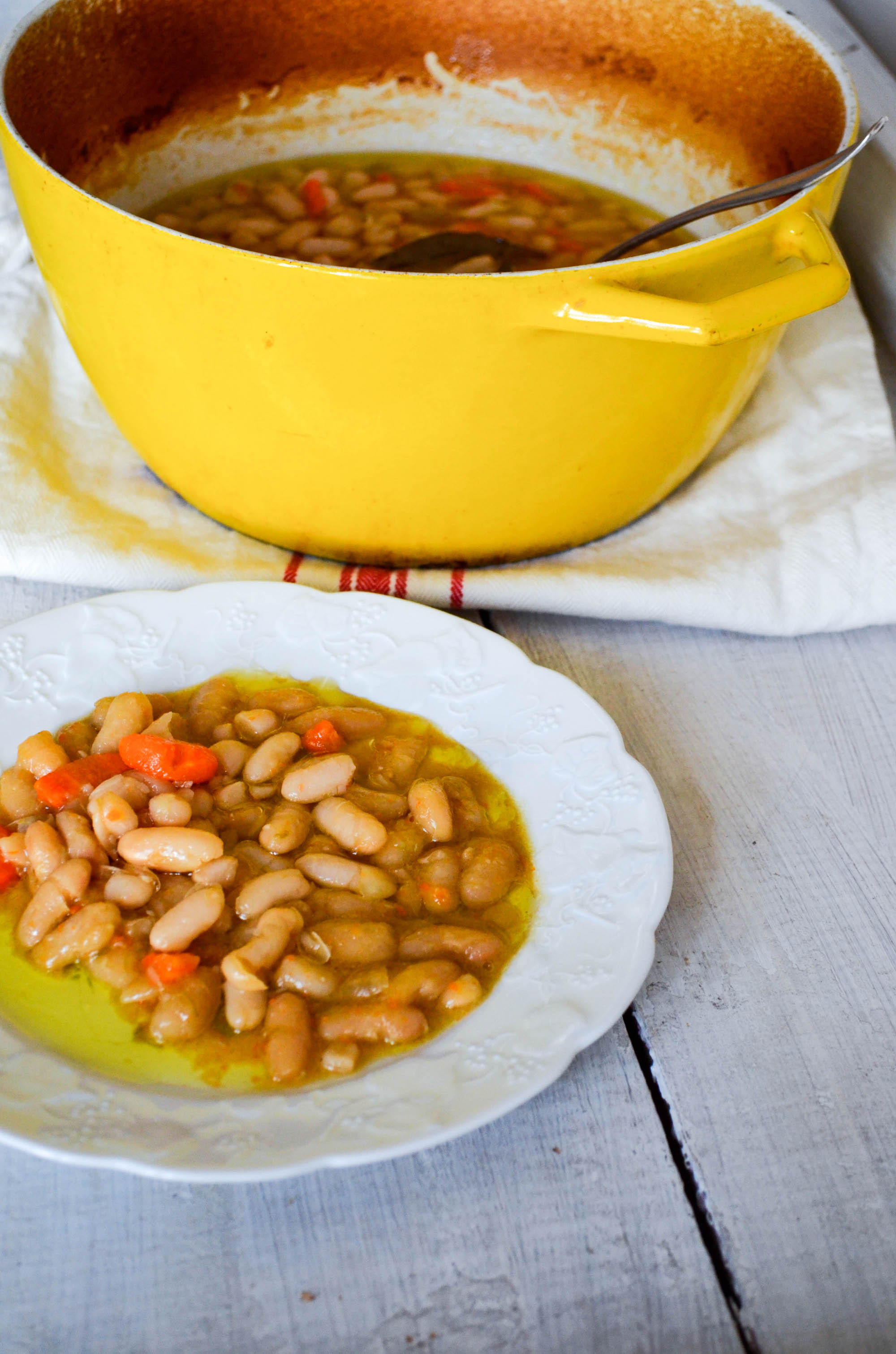 Braised White Beans, a Roman Recipe | In Jennie's Kitchen