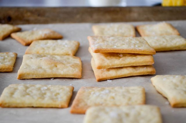 Homemade Saltines Crackers | In Jennie's Kitchen