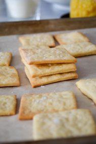 Homemade Saltine Crackers | In Jennie's Kitchen