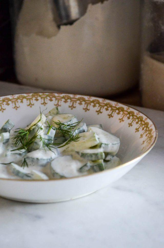 Micheline's Cucumber Salad | In Jennie's Kitchen