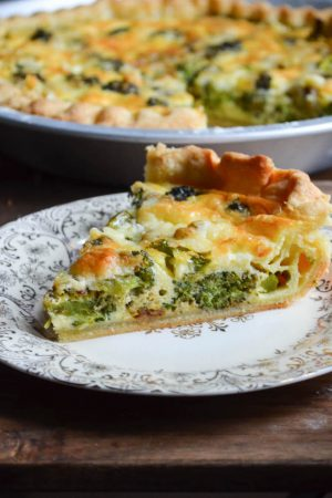 Broccoli Cheddar Cheese Pie