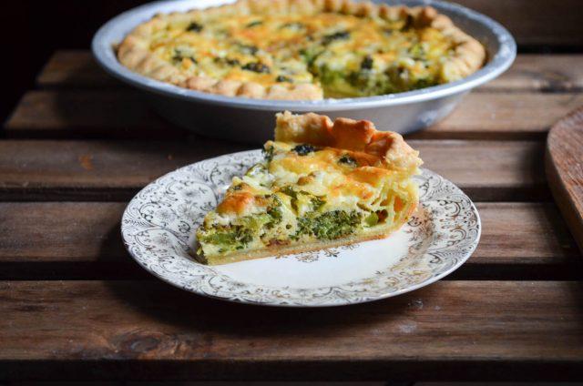 Broccoli Cheddar Cheese Pie | In Jennie's Kitchen