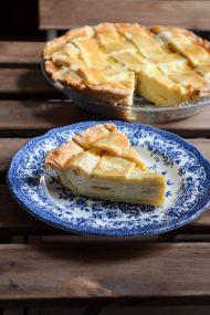Pizza di Ricotta Dolce {Italian Ricotta Cheese Pie} | In Jennie's Kitchen