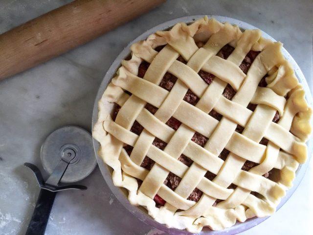 Mostly Rhubarb Pie | In Jennie's Kitchen