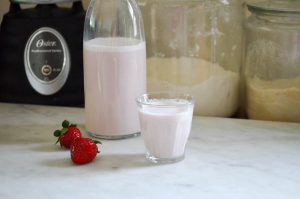 Strawberry Almond Milk | In Jennie's Kitchen