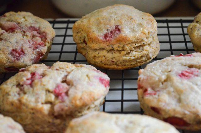 Strawberry Poppy Seed Scones | In Jennie's Kitchen