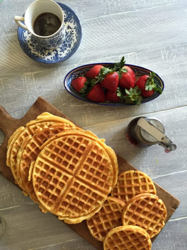 Honey Vanilla Waffles | In Jennie's Kitchen