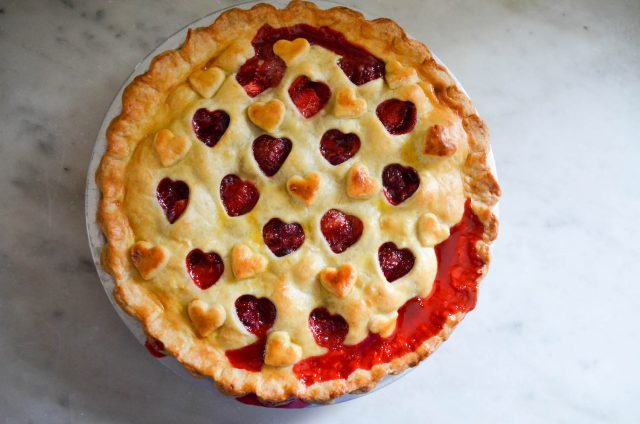 Strawberry Cherry Pie | In Jennie's Kitchen