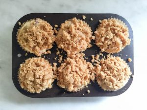 Strawberry Ginger Crumb Muffins | In Jennie's Kitchen