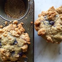 Old Fashioned Blueberry Crumb Muffins