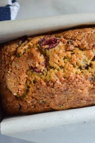 Chocolate Cherry Banana Bread Recipe | In Jennie's Kitchen