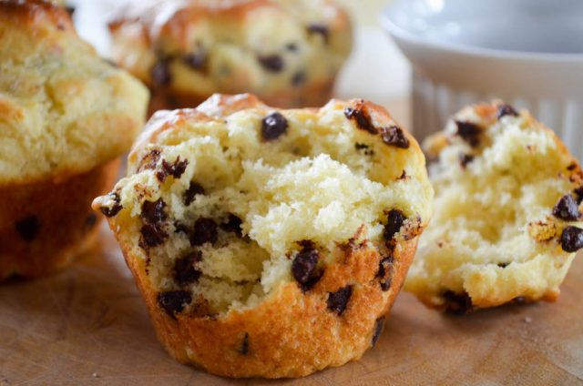Chocolate Chip Pancake Muffins Recipe | In Jennie's Kitchen