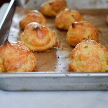 Gougères {French Cheese Puffs}
