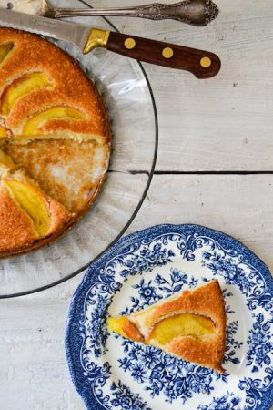 Summer Peach Cake Recipe | In Jennie's Kitchen