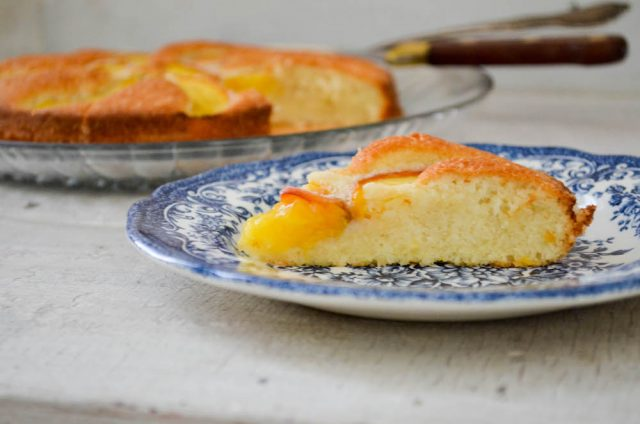 Summer Peach Cake Recipe | In Jennie's Kitchen