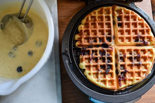 Blueberry Waffles Recipes {dairy free} | In Jennie's Kitchen