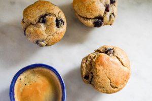 Whole Grain Blueberry Muffins | In Jennie's Kitchen