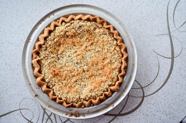 Crumb Topped Pumpkin Pie Recipe | In Jennie's Kitchen