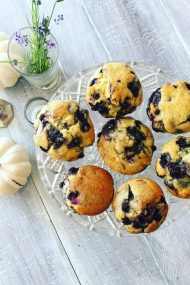 Honey Blueberry Muffins | In Jennie's Kitchen