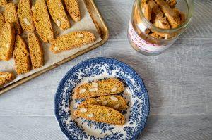 Almond Fennel Biscotti | In Jennie's Kitchen