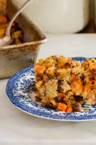 Mikey's Thanksgiving Stuffing | In Jennie's Kitchen