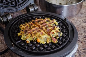 Thanksgiving Leftovers Stuffing Waffles | In Jennie's Kitchen